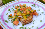 cuba recipes .org - Cuban Style Pork with Papaya Mango Salsa